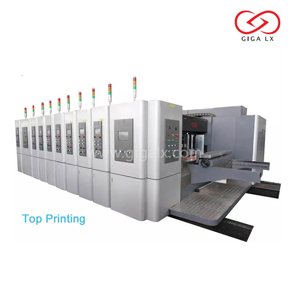 LX-707N Corrugated Flexographic Box Printing Machine with Servo Control Vacuum Suction Automatic and Die Cutter